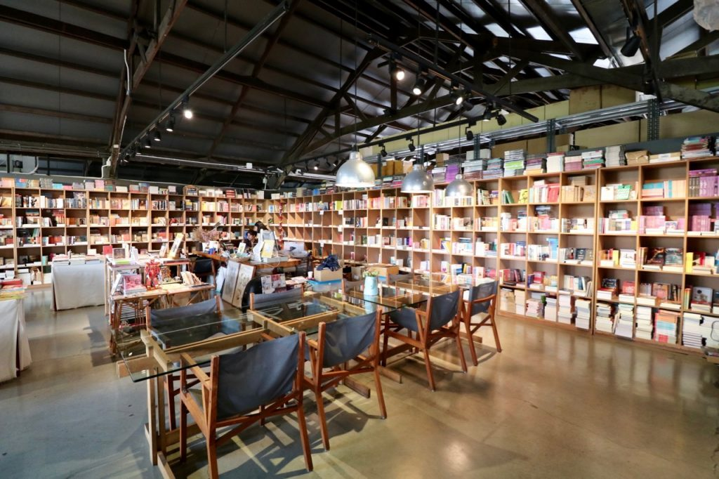 Book store of Candide Books & Cafe