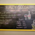 lazy goose black board