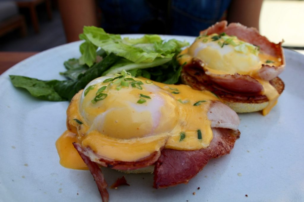 Eggs Benny with Sri Racha Chilli Sauce